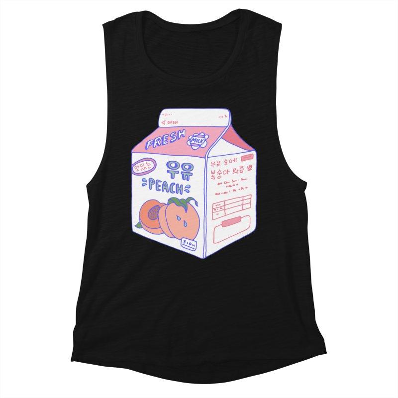 Peach Milk Women's Tank by Laura OConnor