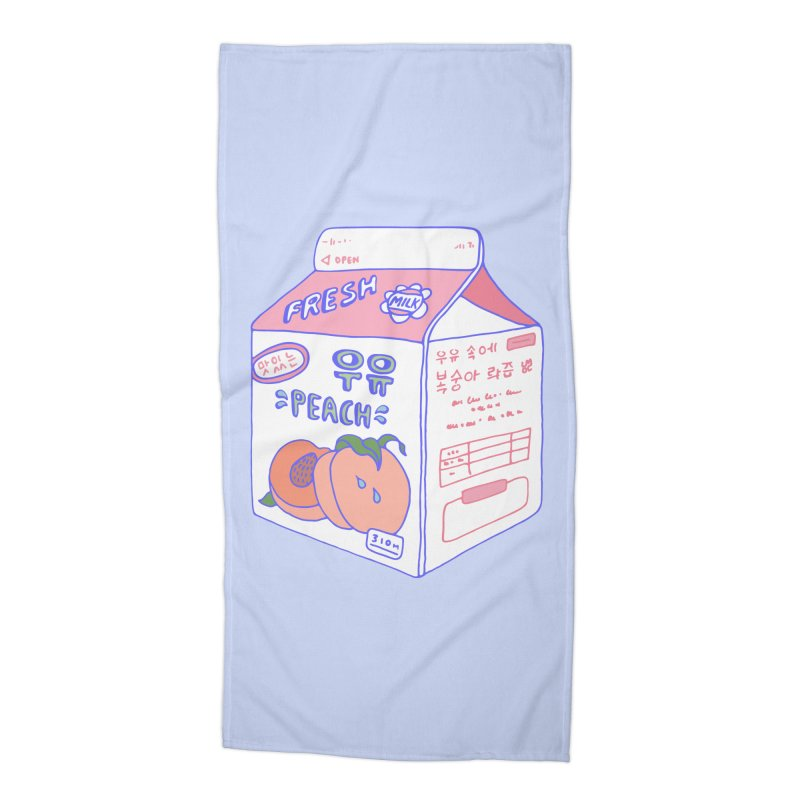 Peach Milk Accessories Beach Towel by Laura OConnor