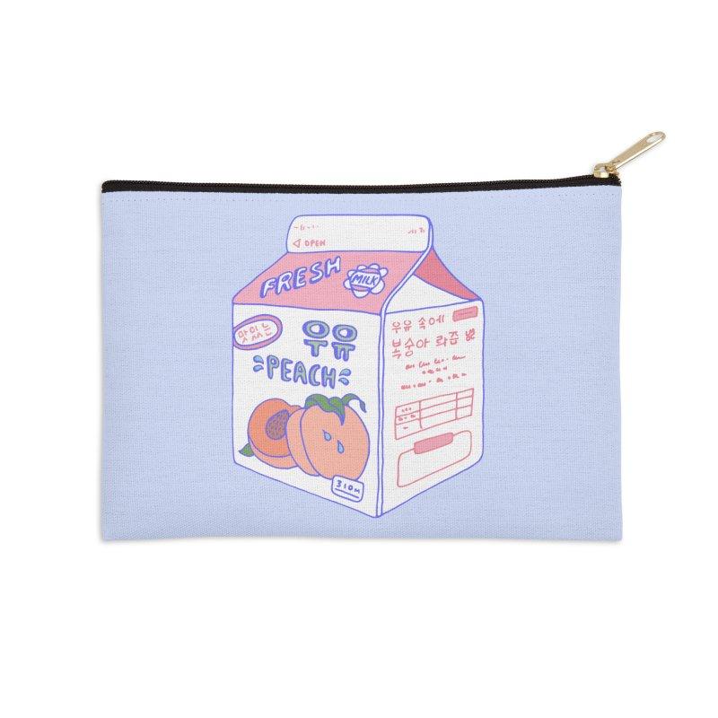 Peach Milk Accessories Zip Pouch by Laura OConnor