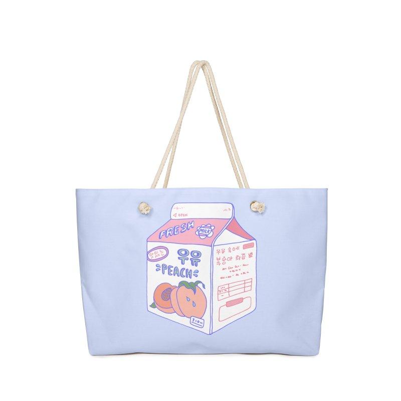 Peach Milk Accessories Bag by Laura OConnor