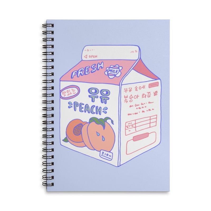 Peach Milk Accessories Notebook by Laura OConnor