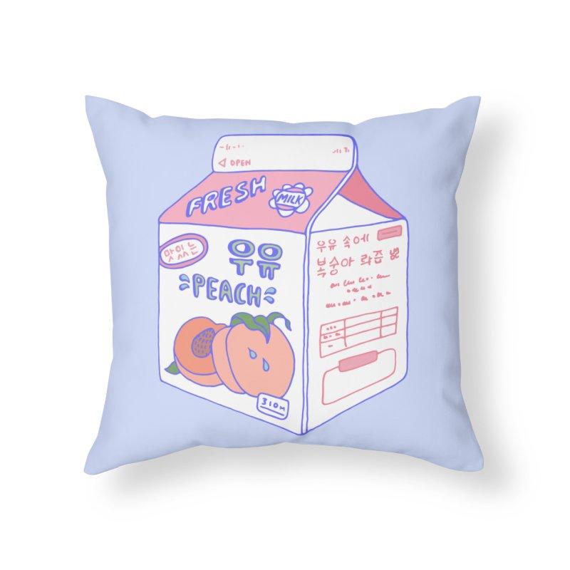 Peach Milk Home Throw Pillow by Laura OConnor