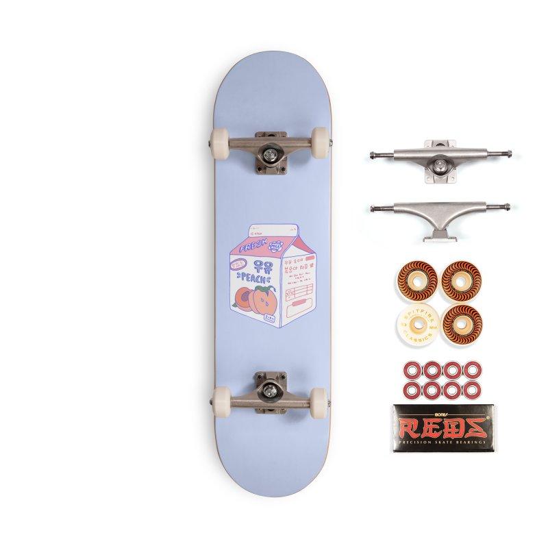Peach Milk Accessories Skateboard by Laura OConnor