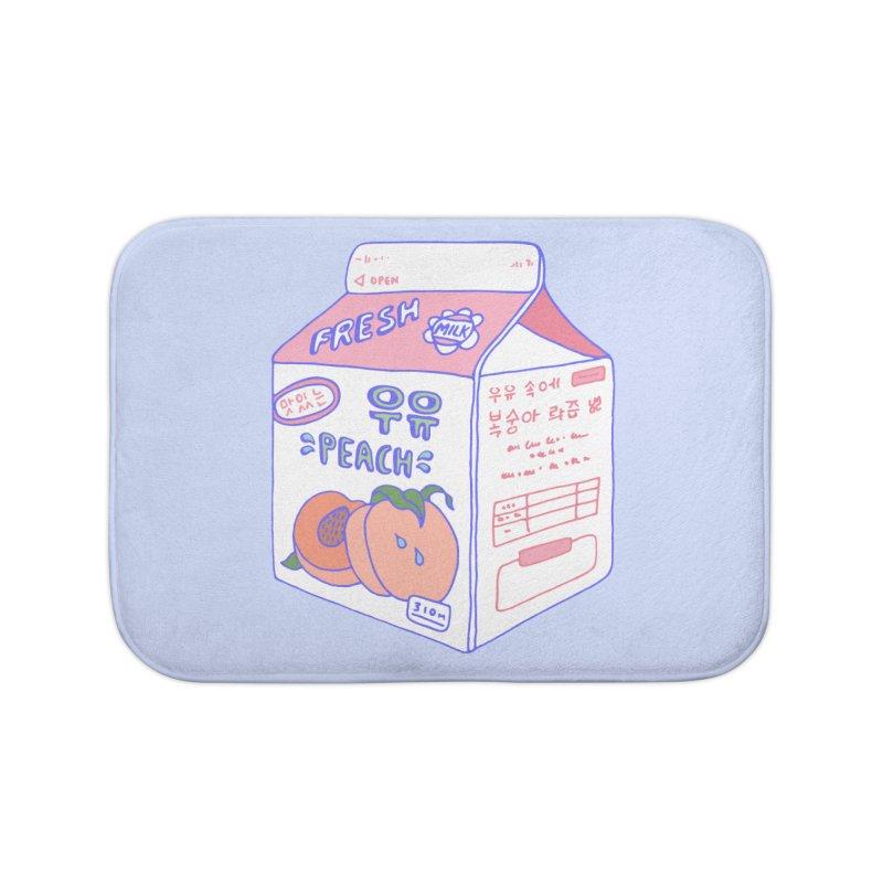 Peach Milk Home Bath Mat by Laura OConnor