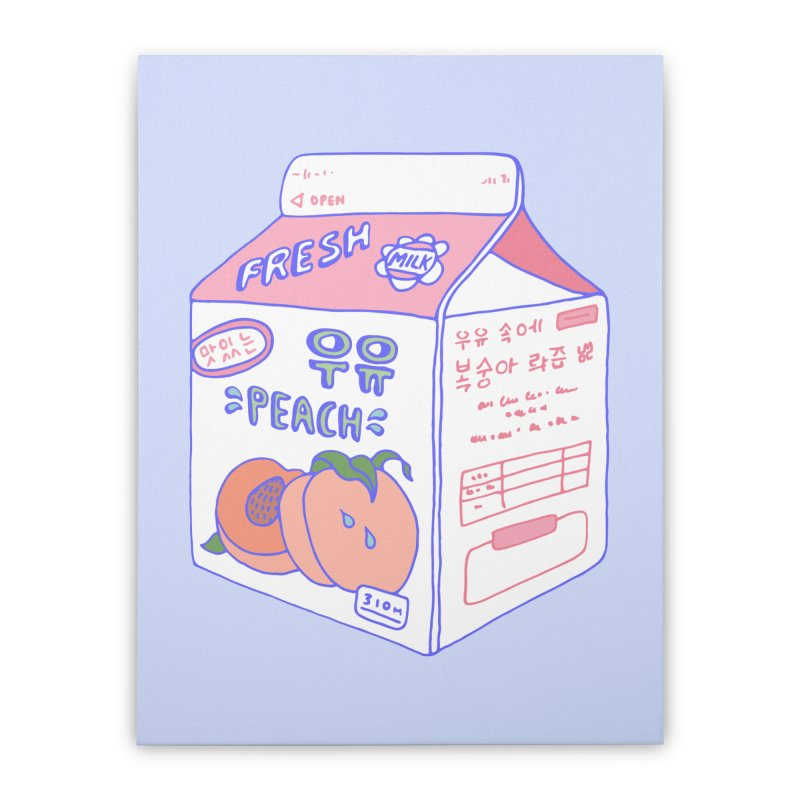 Peach Milk Home Stretched Canvas by Laura OConnor