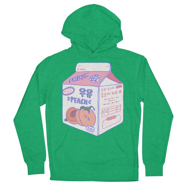 Peach Milk Men's French Terry Pullover Hoody by Laura OConnor's Artist Shop