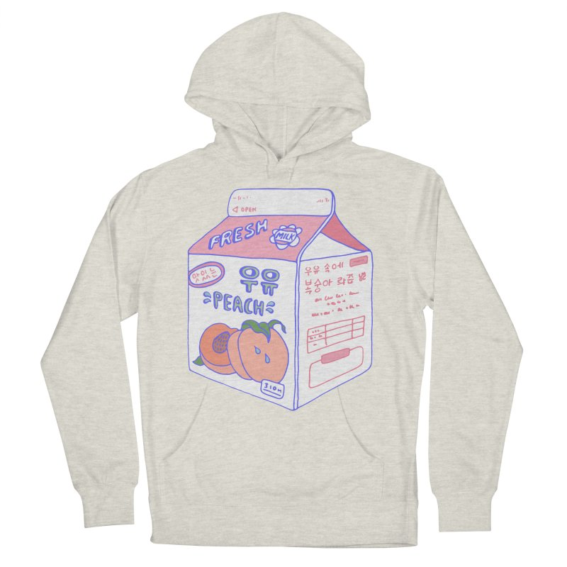 Peach Milk Men's French Terry Pullover Hoody by Laura OConnor