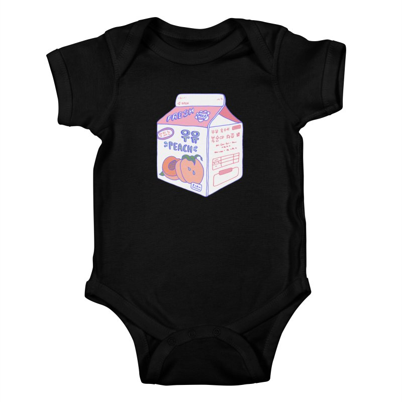 Peach Milk Kids Baby Bodysuit by Laura OConnor