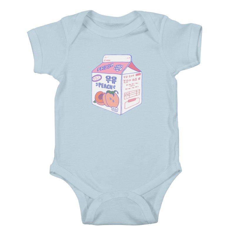 Peach Milk Kids Baby Bodysuit by Laura OConnor