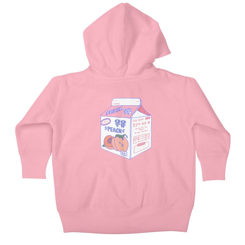 Peach Milk Kids Baby Zip-Up Hoody by Laura OConnor