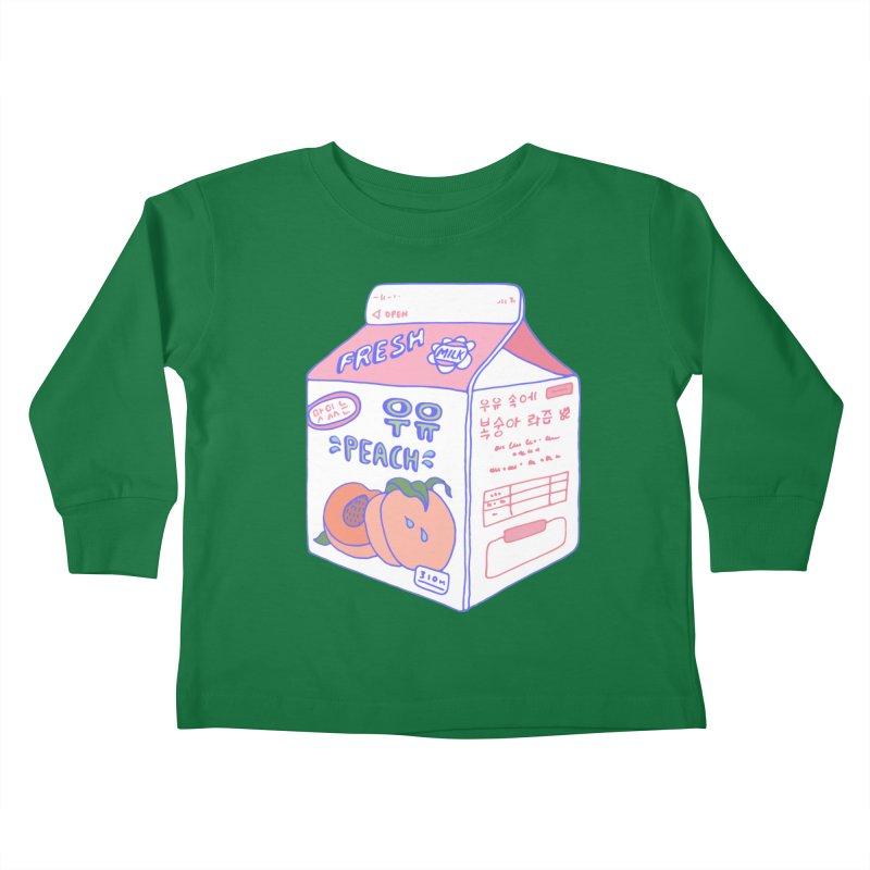 Peach Milk Kids Toddler Longsleeve T-Shirt by Laura OConnor