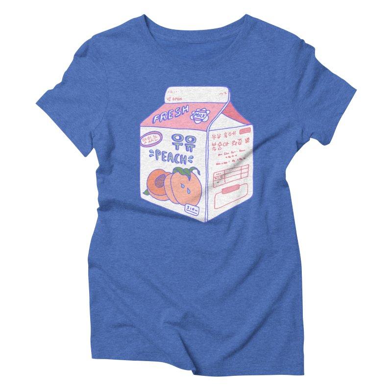 Peach Milk Women's Triblend T-Shirt by Laura OConnor