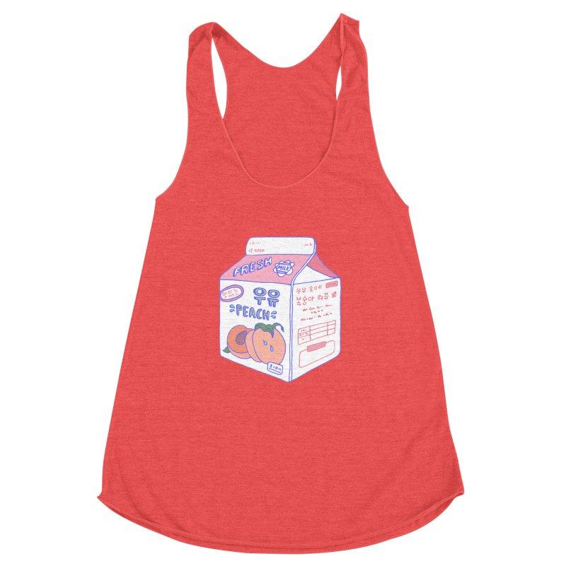 Peach Milk Women's Racerback Triblend Tank by Laura OConnor