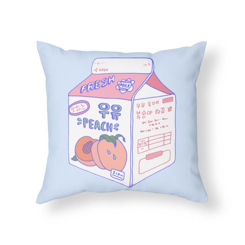 Peach Milk Home Throw Pillow by Laura OConnor's Artist Shop
