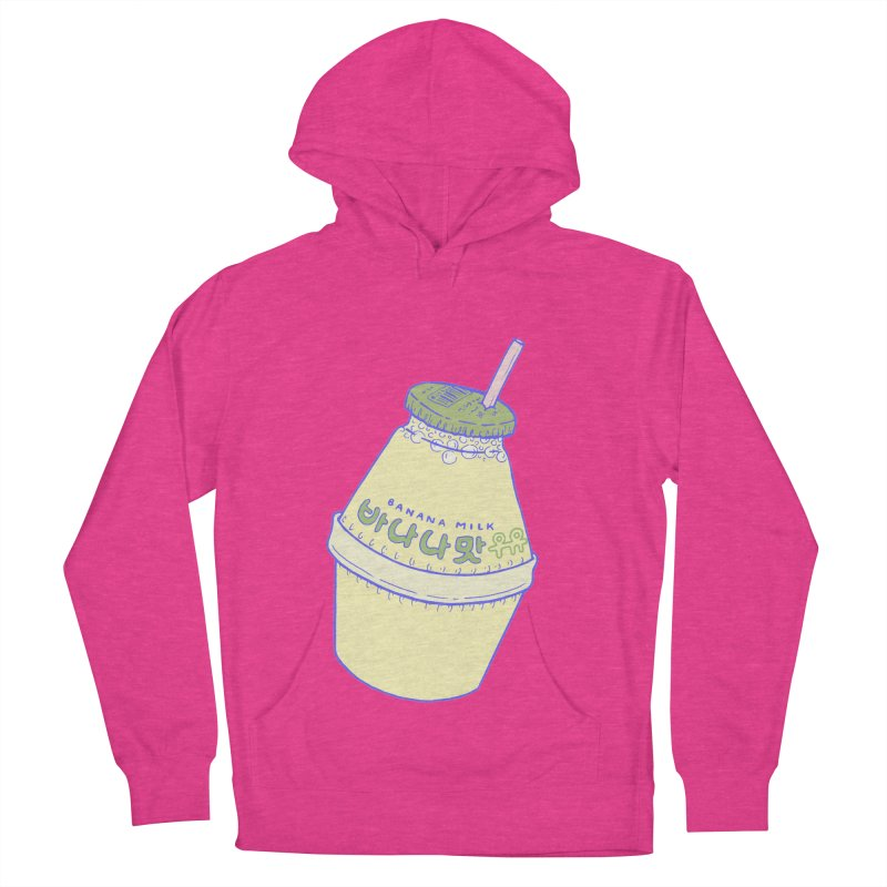 Banana Milk Men's French Terry Pullover Hoody by Laura OConnor's Artist Shop