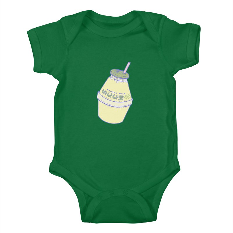 Banana Milk Kids Baby Bodysuit by Laura OConnor