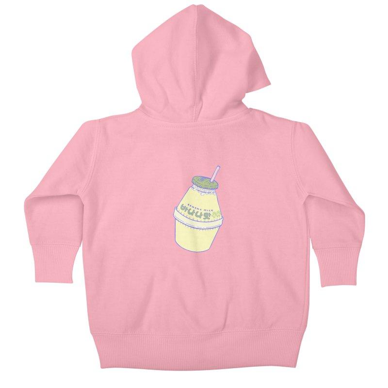Banana Milk Kids Baby Zip-Up Hoody by Laura OConnor