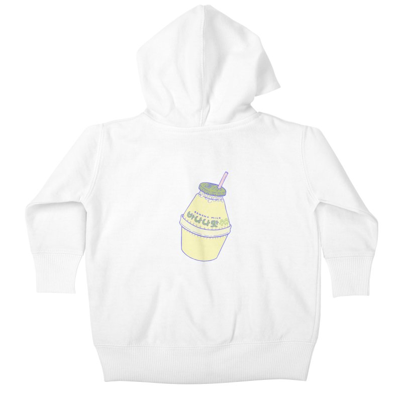 Banana Milk Kids Baby Zip-Up Hoody by Laura OConnor