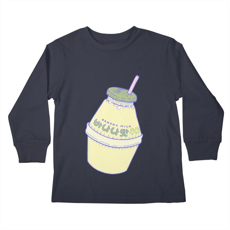 Banana Milk Kids Longsleeve T-Shirt by Laura OConnor