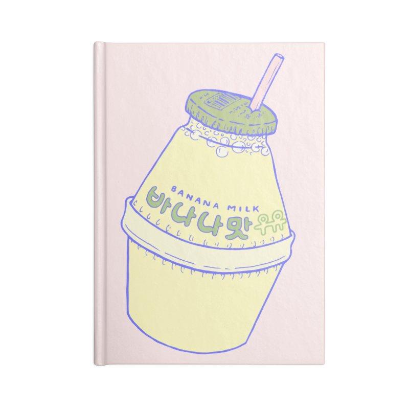 Banana Milk Accessories Notebook by Laura OConnor