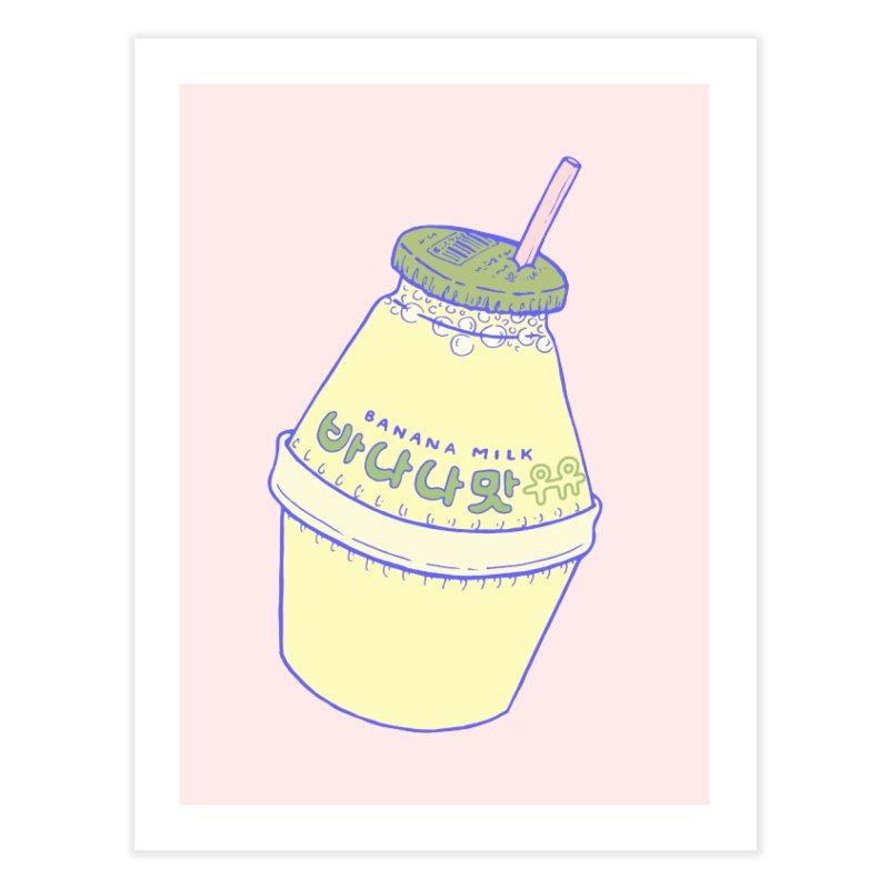 Banana Milk Home Fine Art Print by Laura OConnor