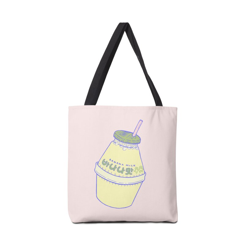 Banana Milk Accessories Bag by Laura OConnor