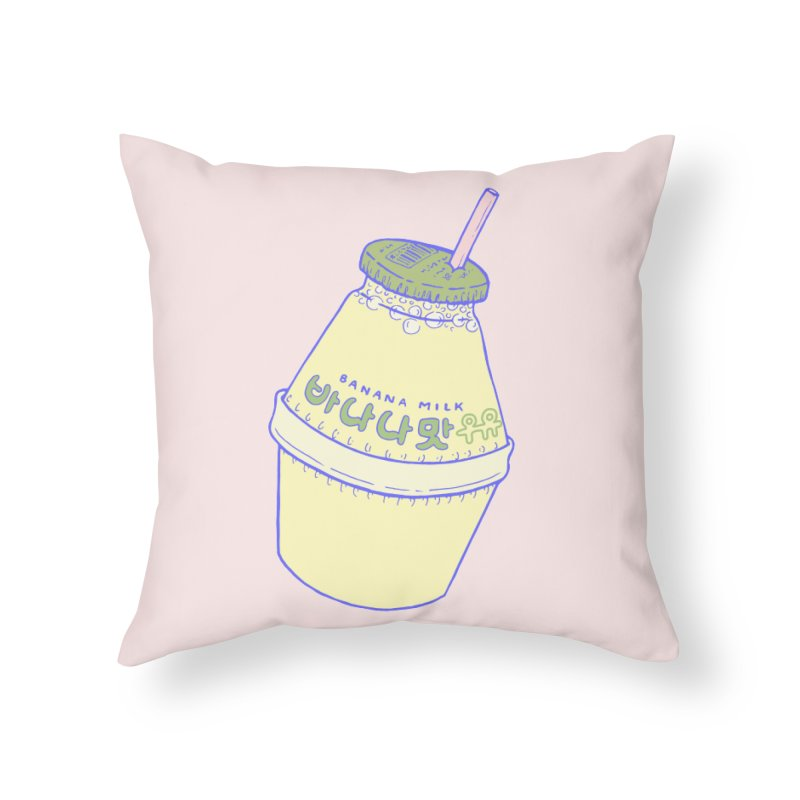 Banana Milk Home Throw Pillow by Laura OConnor