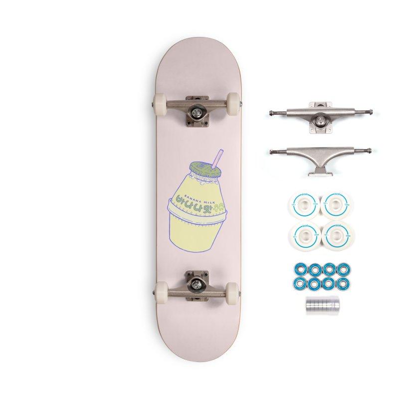 Banana Milk Accessories Skateboard by Laura OConnor