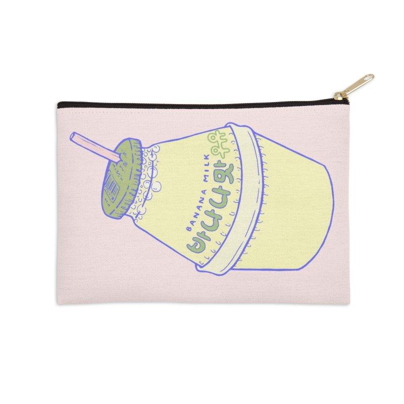 Banana Milk Accessories Zip Pouch by Laura OConnor