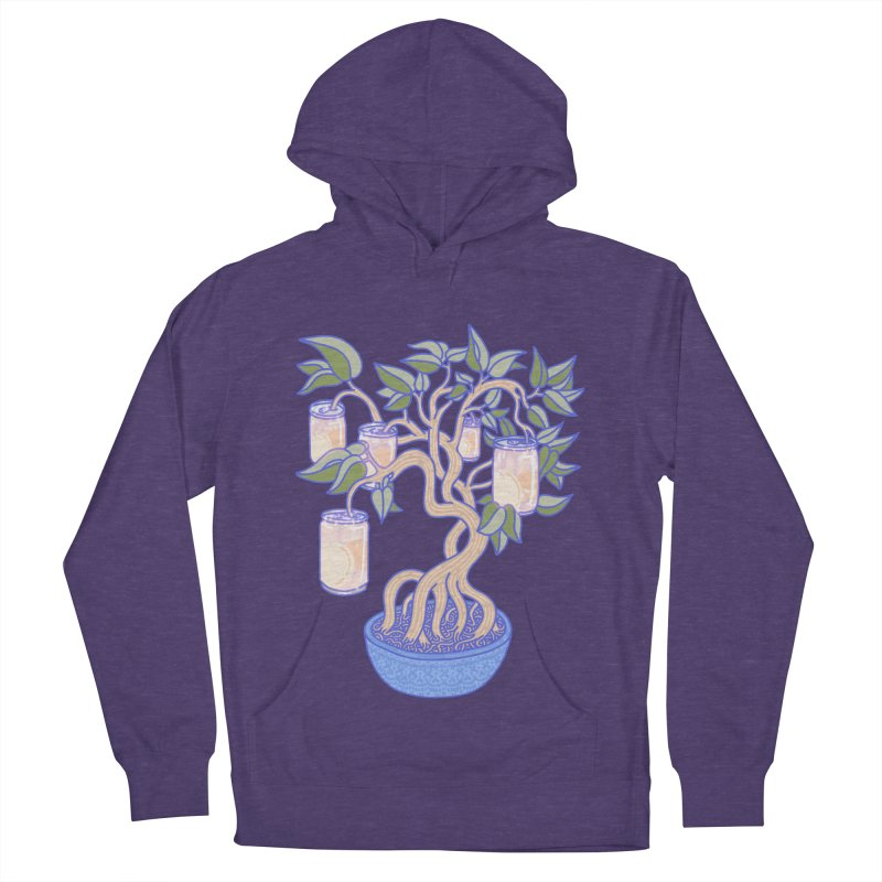 Peach Tree Men's French Terry Pullover Hoody by Laura OConnor's Artist Shop