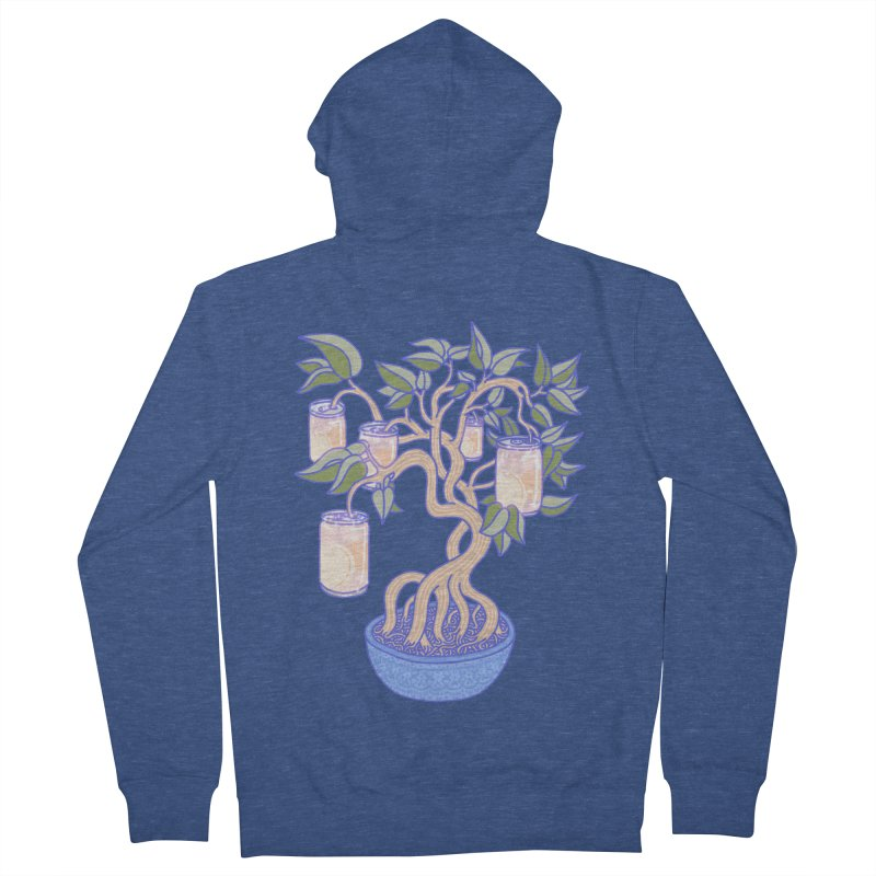 Peach Tree Men's French Terry Zip-Up Hoody by Laura OConnor's Artist Shop