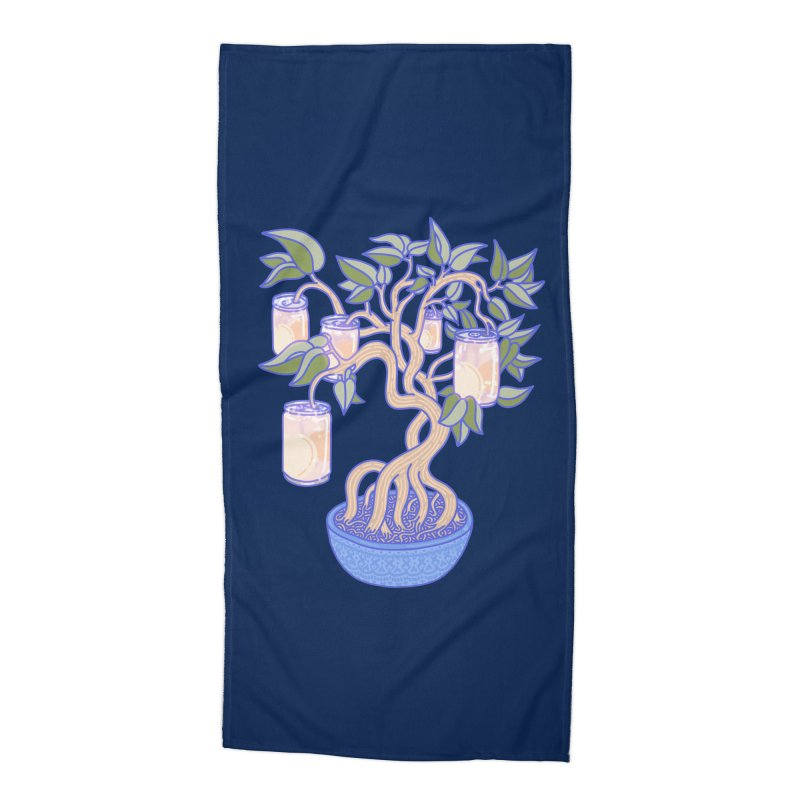 Peach Tree Accessories Beach Towel by Laura OConnor