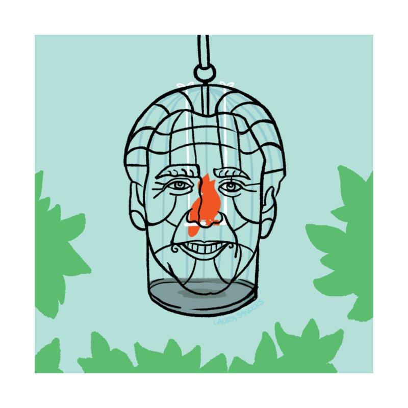 Nicolas Bird Cage Home Throw Pillow by LAURA SANDERS