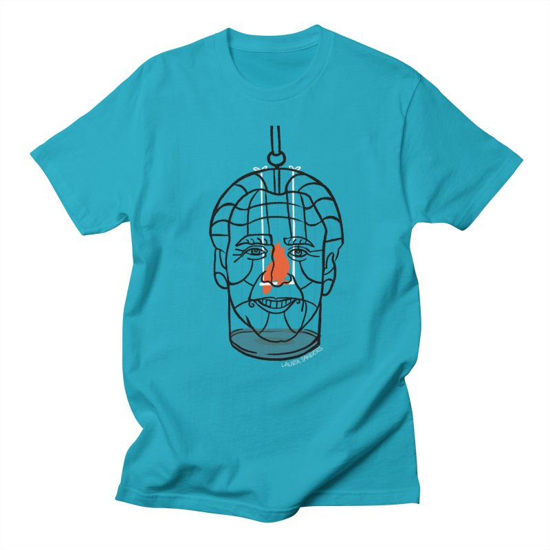Nicolas Bird Cage Men's Regular T-Shirt by LAURA SANDERS