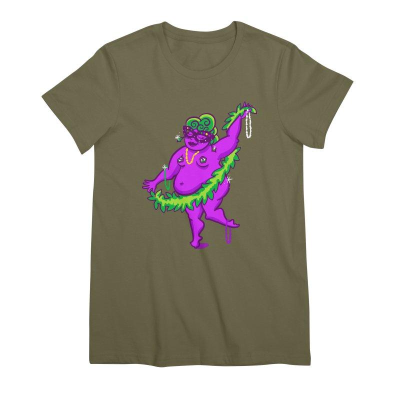 Phat Tuesday Women's Premium T-Shirt by LAURA SANDERS