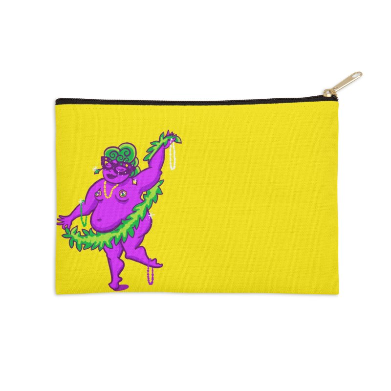 Phat Tuesday Accessories Zip Pouch by LAURA SANDERS