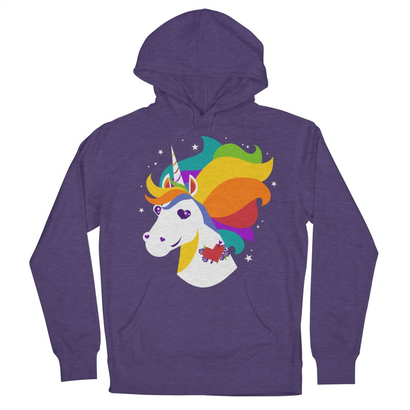 Near & Queer to My Heart Men's French Terry Pullover Hoody by LAURA SANDERS