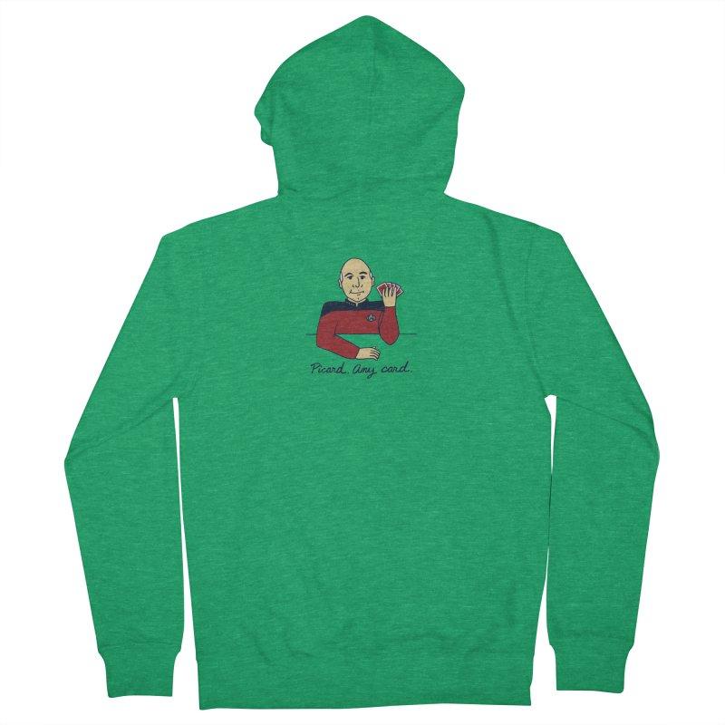 Captain Picard Men's Zip-Up Hoody by laurastead's Artist Shop