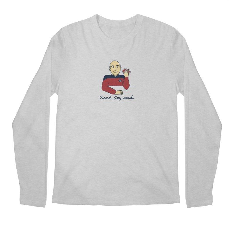 Captain Picard Men's Longsleeve T-Shirt by laurastead's Artist Shop