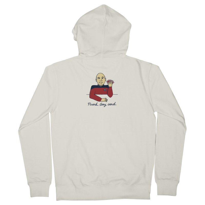 Captain Picard Women's French Terry Zip-Up Hoody by laurastead's Artist Shop