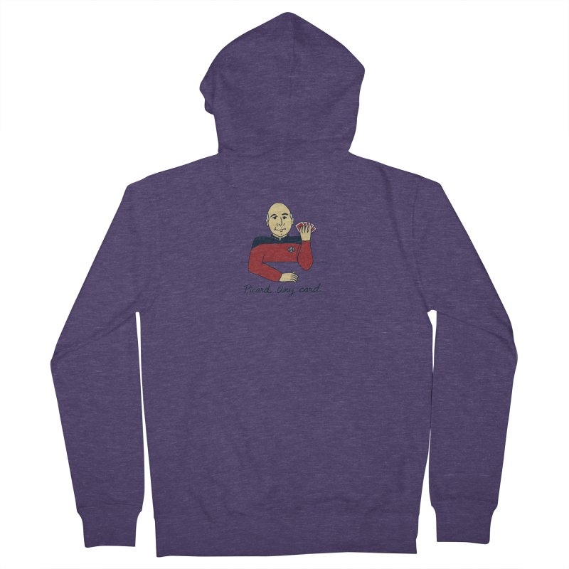 Captain Picard Men's French Terry Zip-Up Hoody by laurastead's Artist Shop