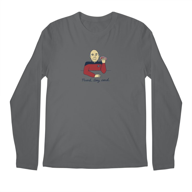 Captain Picard Men's Longsleeve T-Shirt by laurastead's Artist Shop