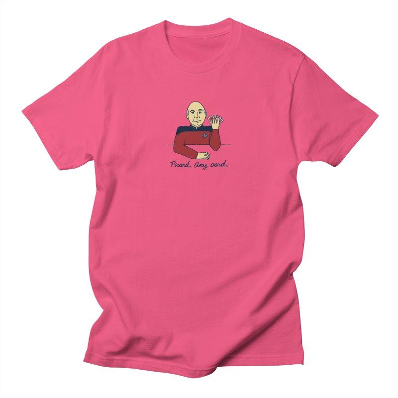 Captain Picard Men's T-shirt by laurastead's Artist Shop