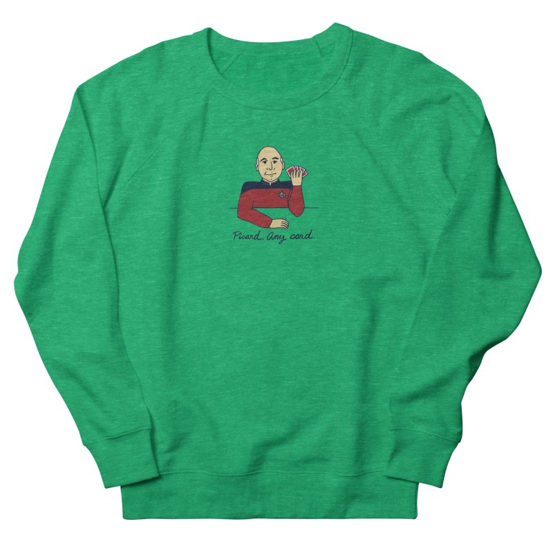 Captain Picard Women's French Terry Sweatshirt by laurastead's Artist Shop