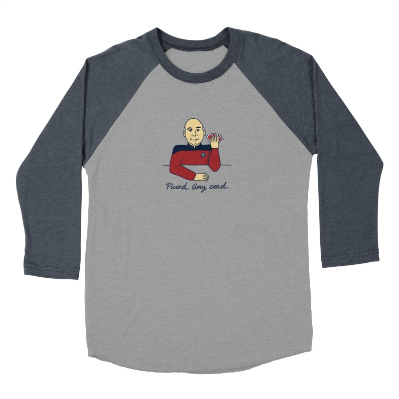 Captain Picard Men's Baseball Triblend Longsleeve T-Shirt by laurastead's Artist Shop