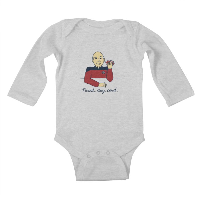 Captain Picard Kids Baby Longsleeve Bodysuit by laurastead's Artist Shop