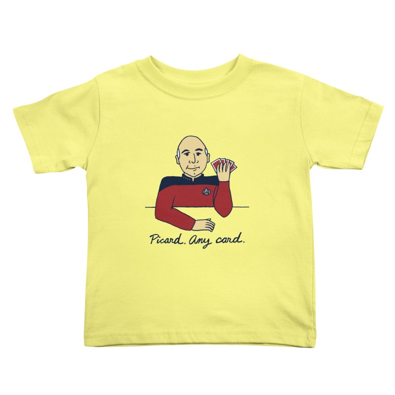 Captain Picard Kids Toddler T-Shirt by laurastead's Artist Shop