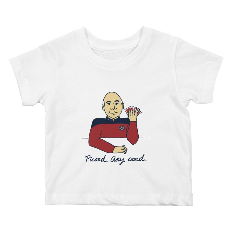 Captain Picard Kids Baby T-Shirt by laurastead's Artist Shop