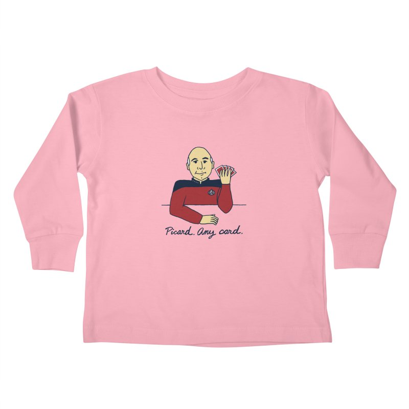 Captain Picard Kids Toddler Longsleeve T-Shirt by laurastead's Artist Shop