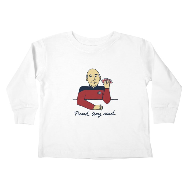 Captain Picard Kids Toddler Longsleeve T-Shirt by laurastead's Artist Shop